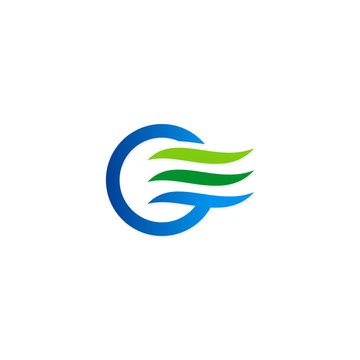 air flow abstract icon water eco logo