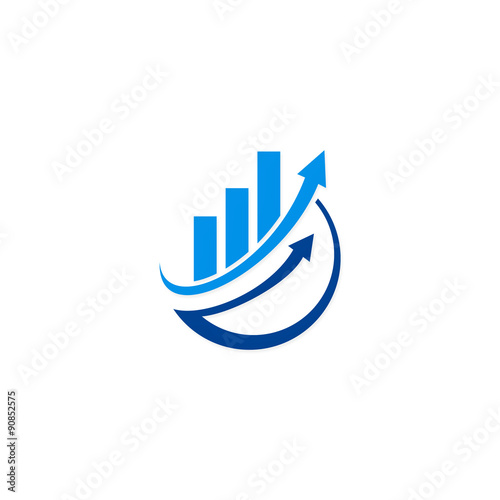 "Finance Logo: ""arrow Chart Business Finance Vector Logo"" Stock Image And"