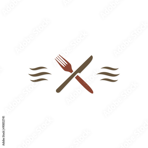 """food spoon and fork logo"" Stock image and royalty-free ..."