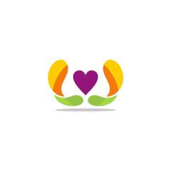 love abstract heart vector logo