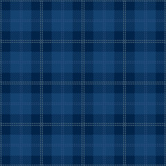 Blue Seamless Tartan Plaid Textile Design