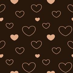 lovely pastel pink heart seamless vector pattern background illustration