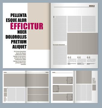 modern magazine layout template