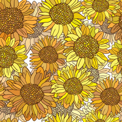 Cute floral seamless pattern background
