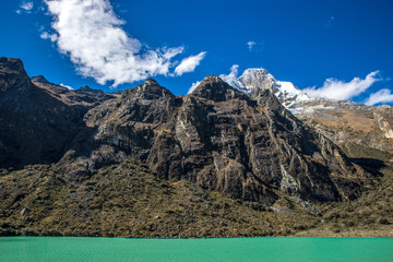 Lake in the mountains of Peru