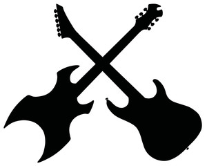 Electric guitars / Hand drawing, vector illustration
