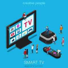 Smart TV, set top box and remote controller with micro people