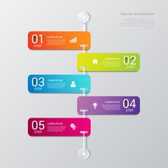 Vector timeline process steps labels template background