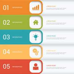 Process steps labels vector infographics mockup template
