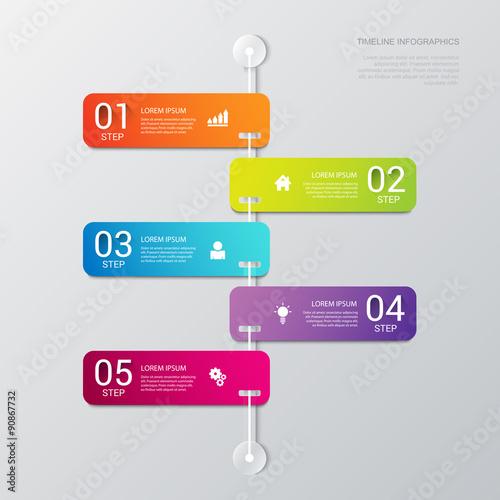 vector timeline process steps labels template background stock