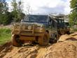Landrover Defender 110 auf Offroad-Tour