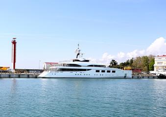 Yacht at the berth