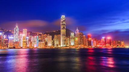 Hong Kong city view at Victoria harbour.