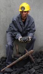 Coal in the hands