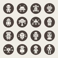 Robots icon set