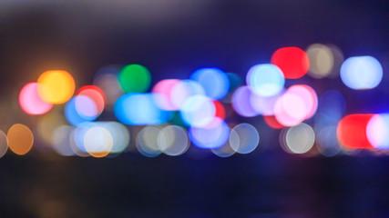 Bokeh of city light background.