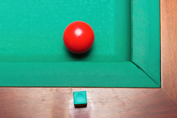 Red Billiard Ball
