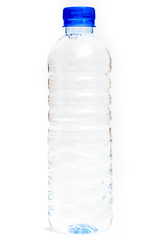 A bottle of water isolate on white background.