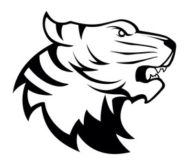 Tiger head illustration symbol