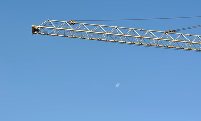 boom crane with moon