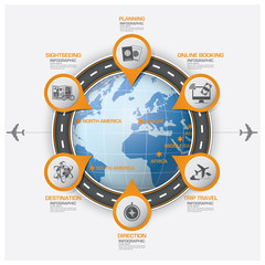 Road And Street Route Business Travel Infographic Diagram