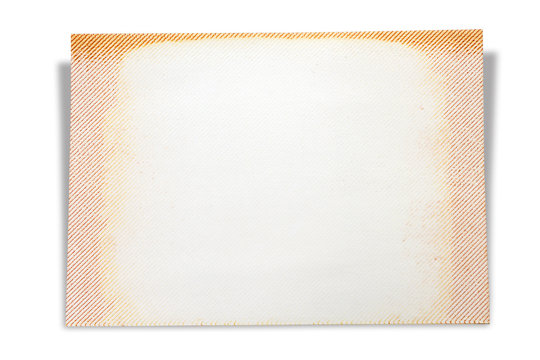 Blank page of scrap book, isolated on white background