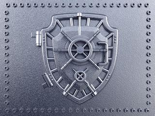 Vaulted door with shield shape