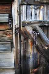 Vintage rotten wooden door
