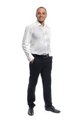 Cheerful businessman standing