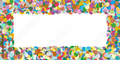 Abstract Colourful Horizontal Vector Confetti Panorama Frame ...