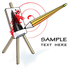 template for art or design with copy-space, vector illustration