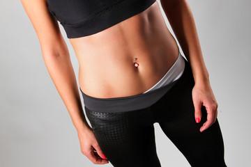Fitness girl belly