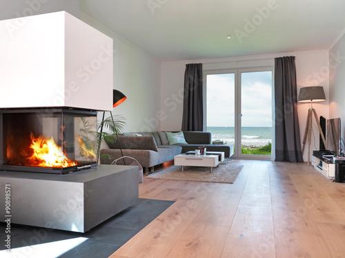 Moderne Wohnzimmer Mit Kamin