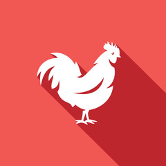 Cock icon. Vector Illustration.