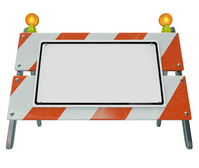 Barricade Barrier Construction Road Sign Blank Copy Space Your M