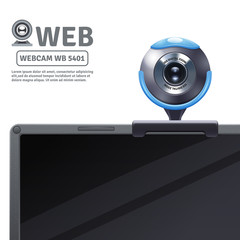 Webcam On Computer Illustration
