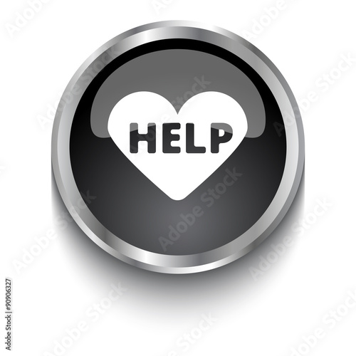 White Aed Symbol On Black Glossy Web Button Stock Image And Royalty