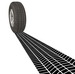 Wheel Tire Skid Mark Tracks Driving Transportation Car Automobil