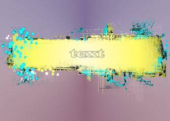 Abstract grunge yellow banner design element