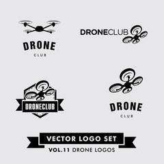 Drone Vector Logo Set
