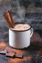 Poster Chocolate Hot chocolate with cinnamon