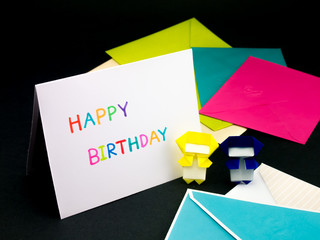 Message Card for Your Family and Friends; Happy Birthday