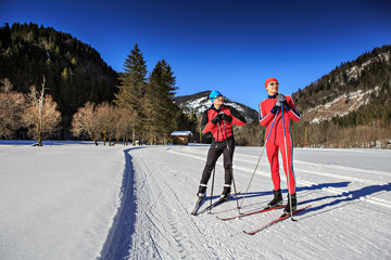 langlauf or cross-country skiing
