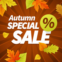 Seasonal autumn sales business background