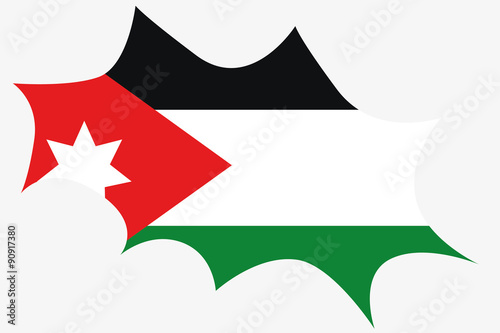 explosion wit the flag of jordan stock photo and royalty free