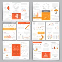 Big set brochures for business data visualization 4