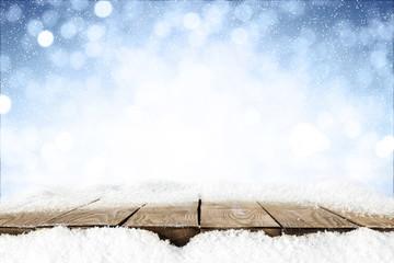 desk of snow  Fototapete
