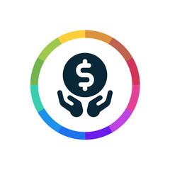 Modern Multicolored Icon