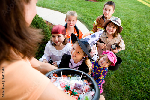 Halloween: Kids Excited to Trick Or Treat