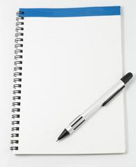 white notebook isolated on white background